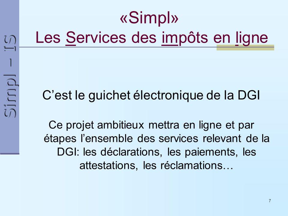 «Simpl» Les Services des impôts en ligne
