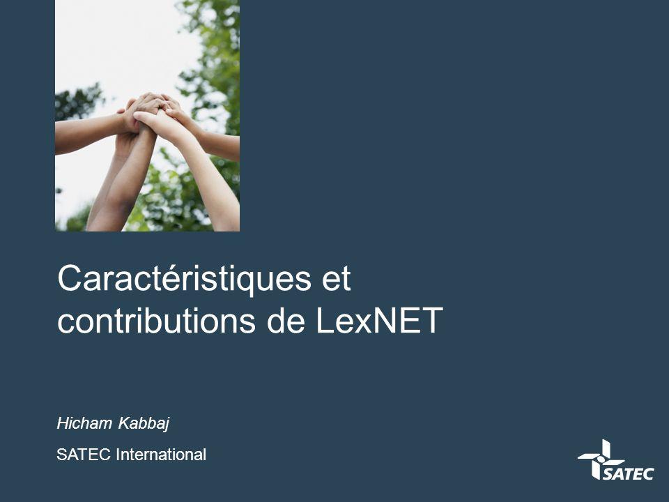 Qu'est ce que LexNET Projet d'administration électronique du Ministère de Justice Espagnol pour différents types d'organismes judiciaires.