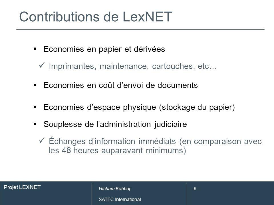 Contributions de LexNET