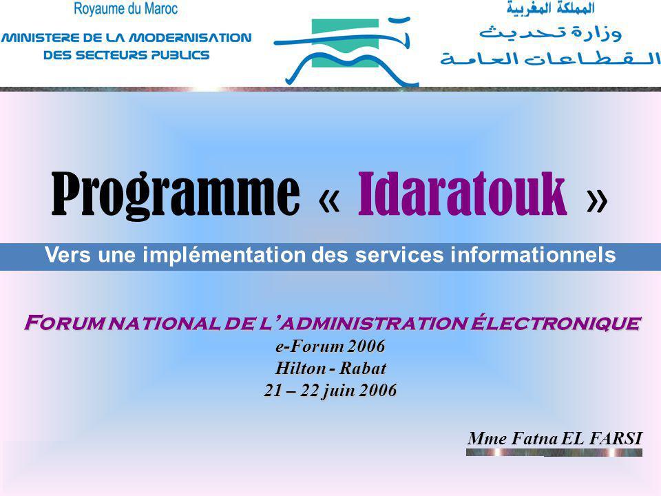 Programme « Idaratouk »