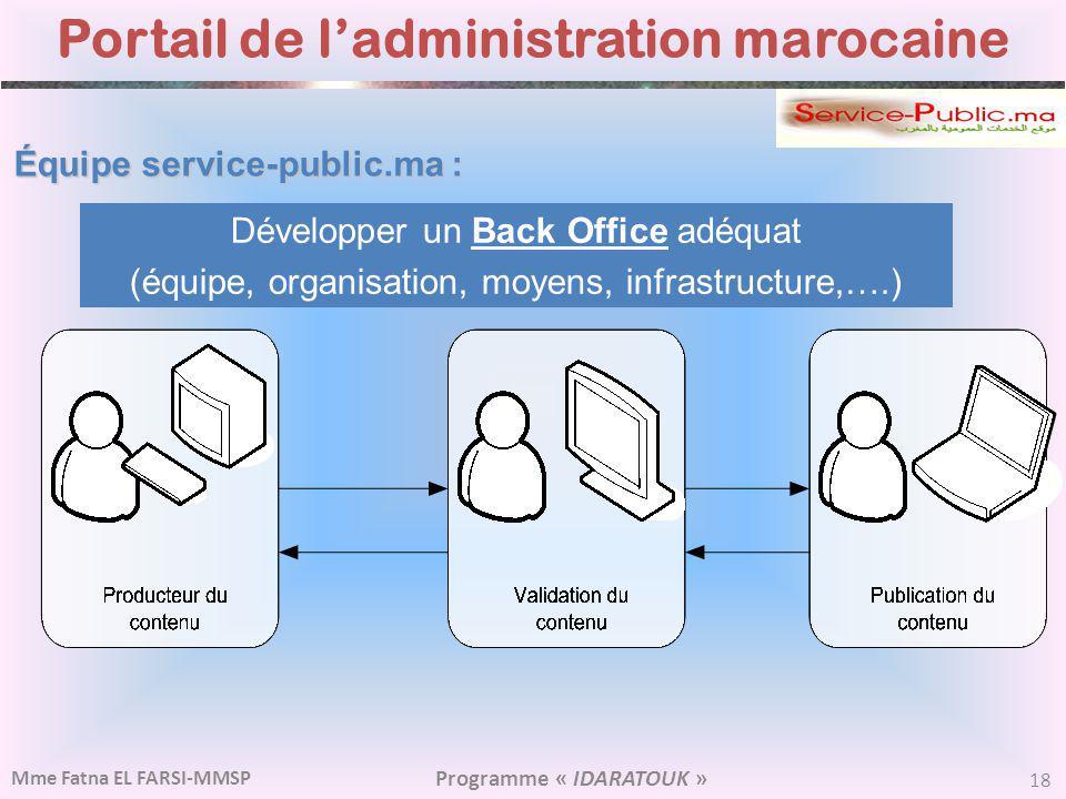 Portail de l'administration marocaine