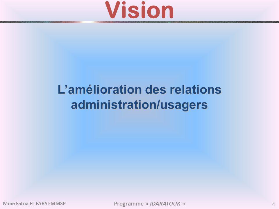 L'amélioration des relations administration/usagers