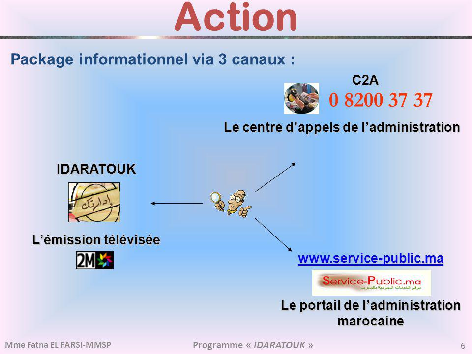 Action 0 8200 37 37 Package informationnel via 3 canaux : C2A