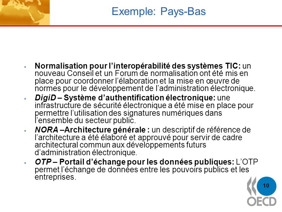 Exemple: Pays-Bas