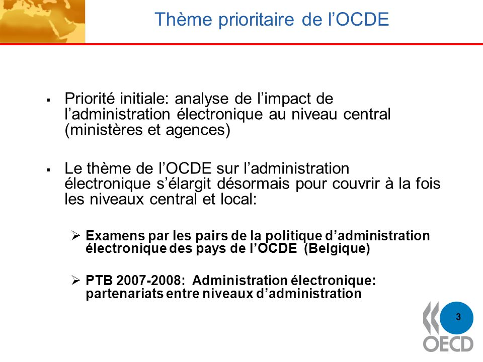 Thème prioritaire de l'OCDE