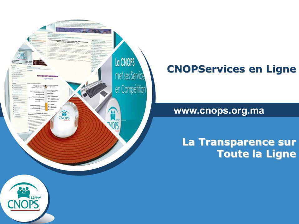 CNOPServices en Ligne www.cnops.org.ma La Transparence sur Toute la Ligne