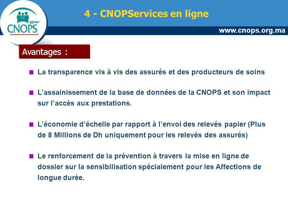 4 - CNOPServices en ligne