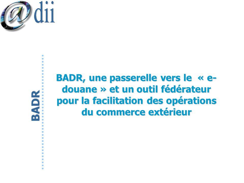 BADR, une passerelle vers le « e-douane » et un outil fédérateur pour la facilitation des opérations du commerce extérieur
