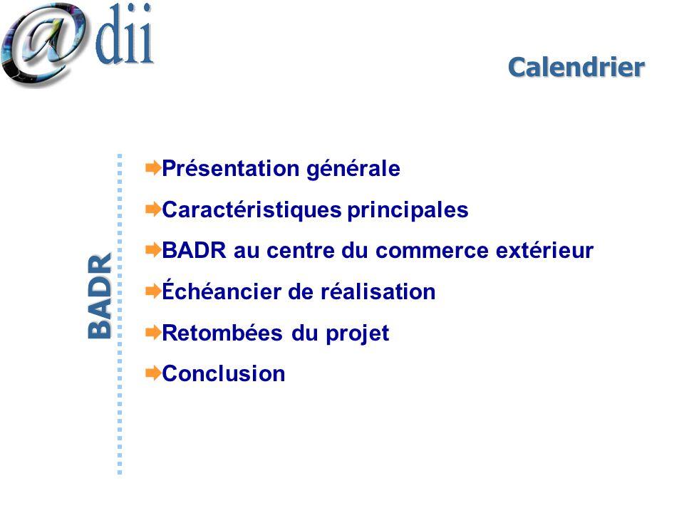 BADR Calendrier Présentation générale Caractéristiques principales