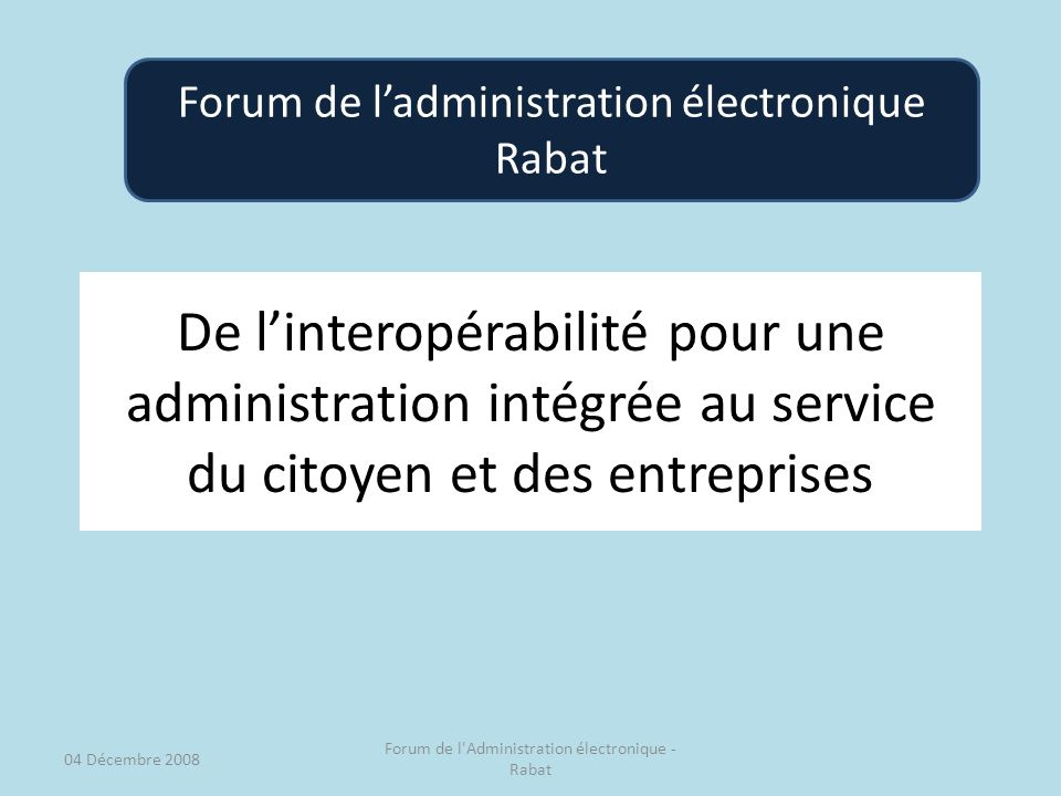Forum de l'administration électronique