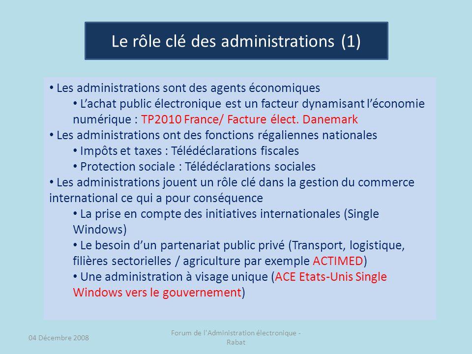 Le rôle clé des administrations (1)