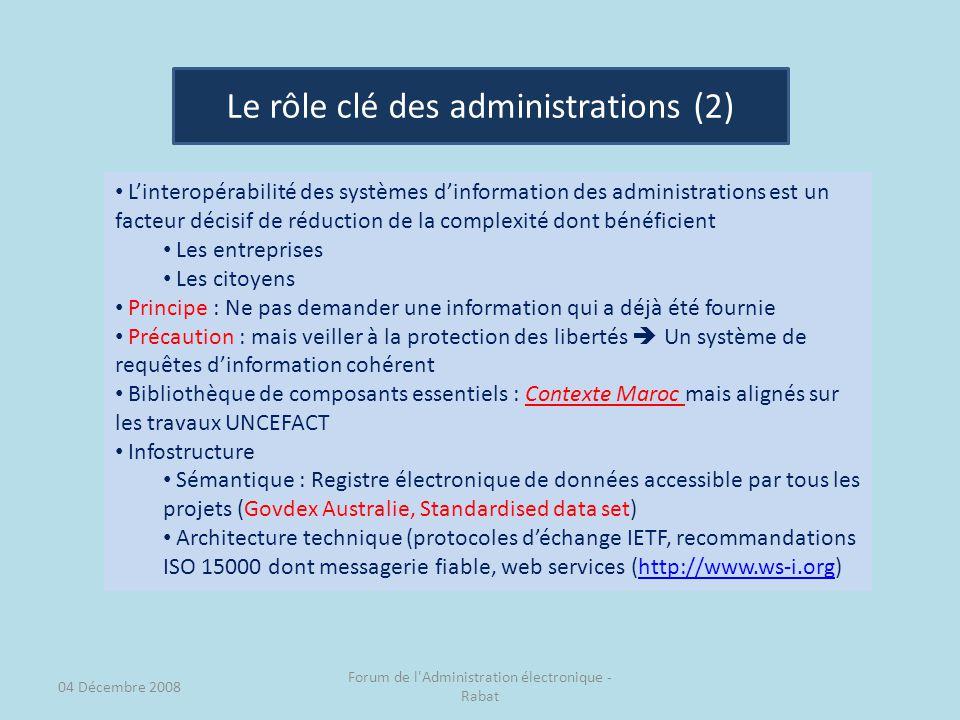 Le rôle clé des administrations (2)