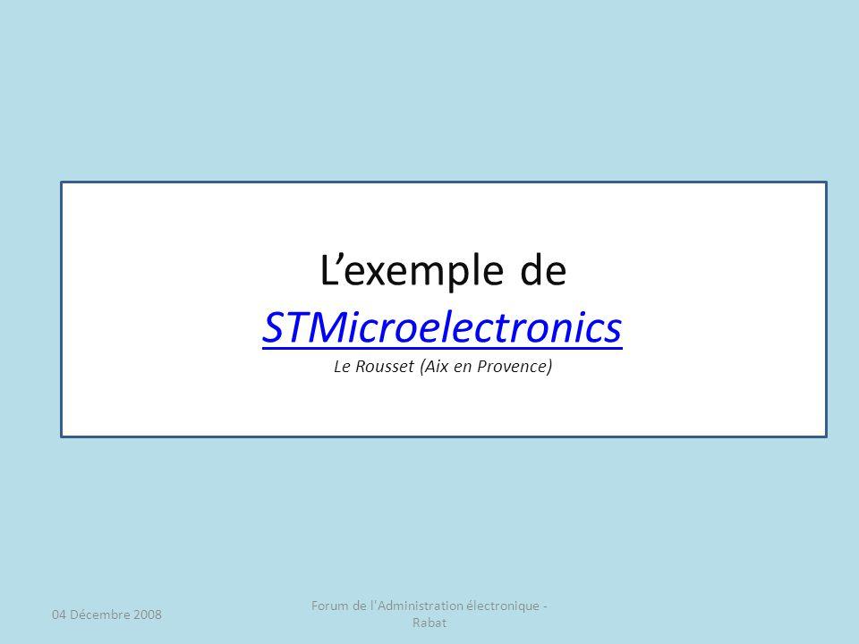 L'exemple de STMicroelectronics Le Rousset (Aix en Provence)