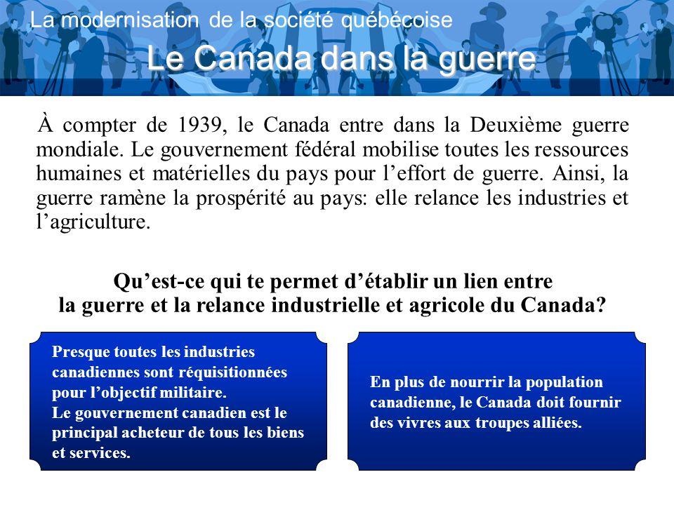 Le Canada dans la guerre