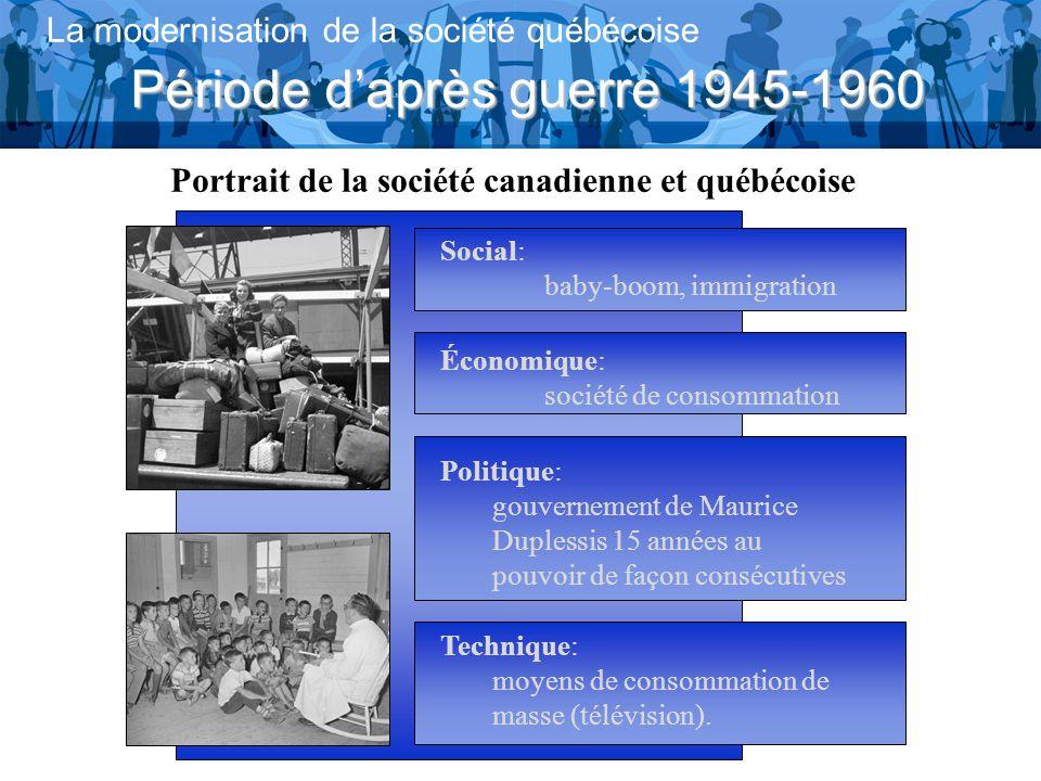 Portrait de la société canadienne et québécoise