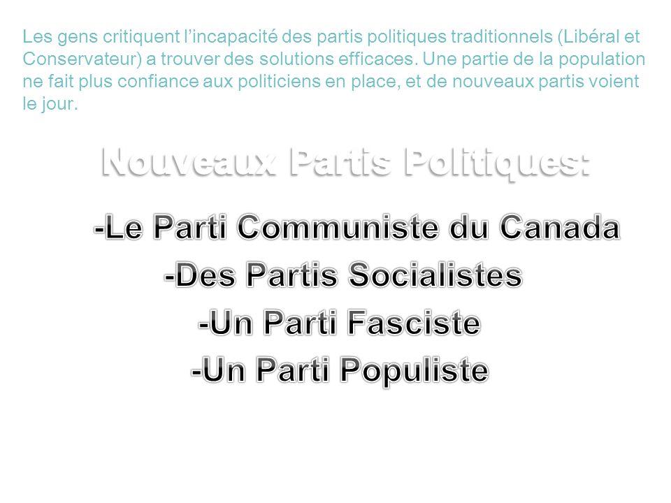 Nouveaux Partis Politiques: