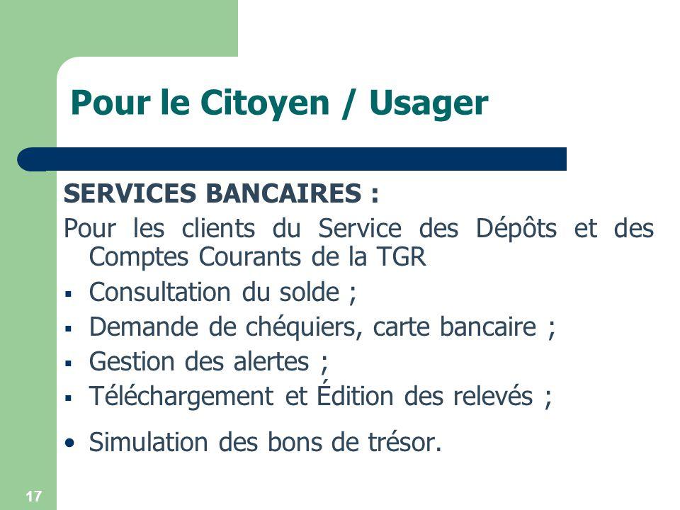 Pour le Citoyen / Usager