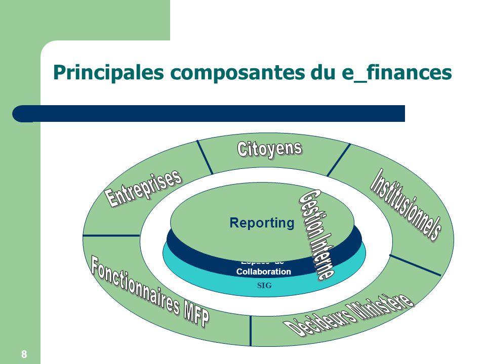 Principales composantes du e_finances