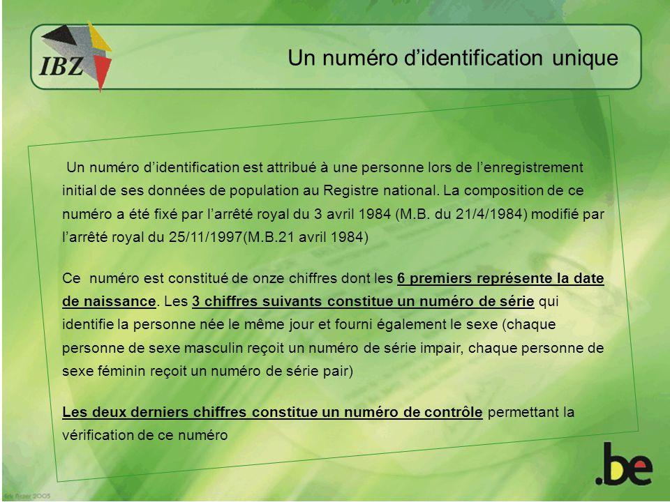 Un numéro d'identification unique