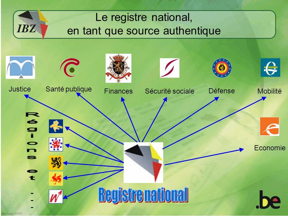 Le registre national, en tant que source authentique