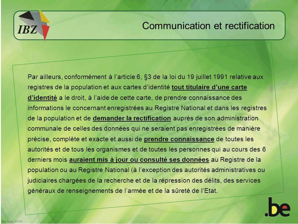 Communication et rectification