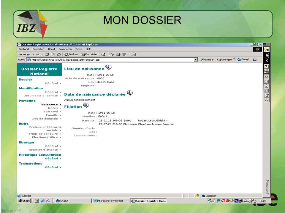 MON DOSSIER