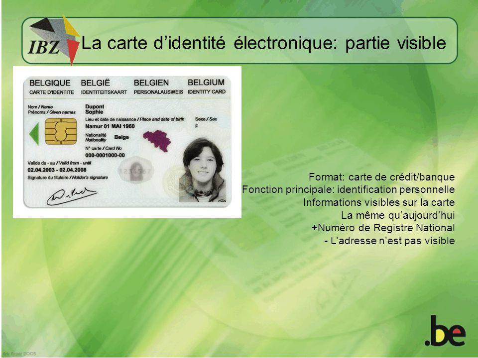 La carte d'identité électronique: partie visible