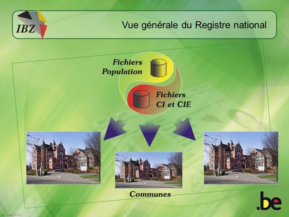 Vue générale du Registre national