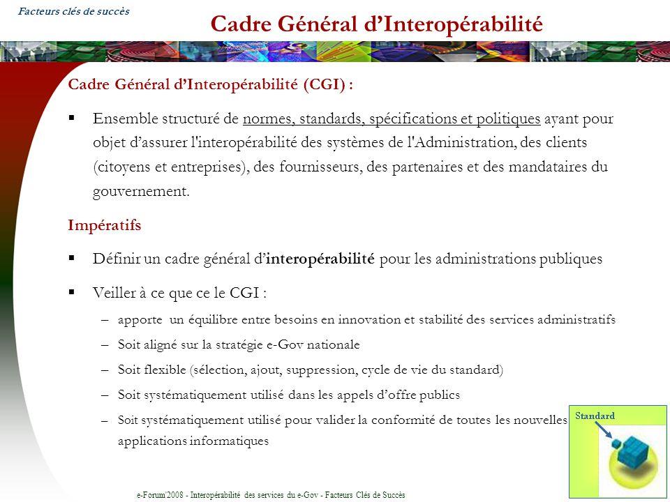 Cadre Général d'Interopérabilité