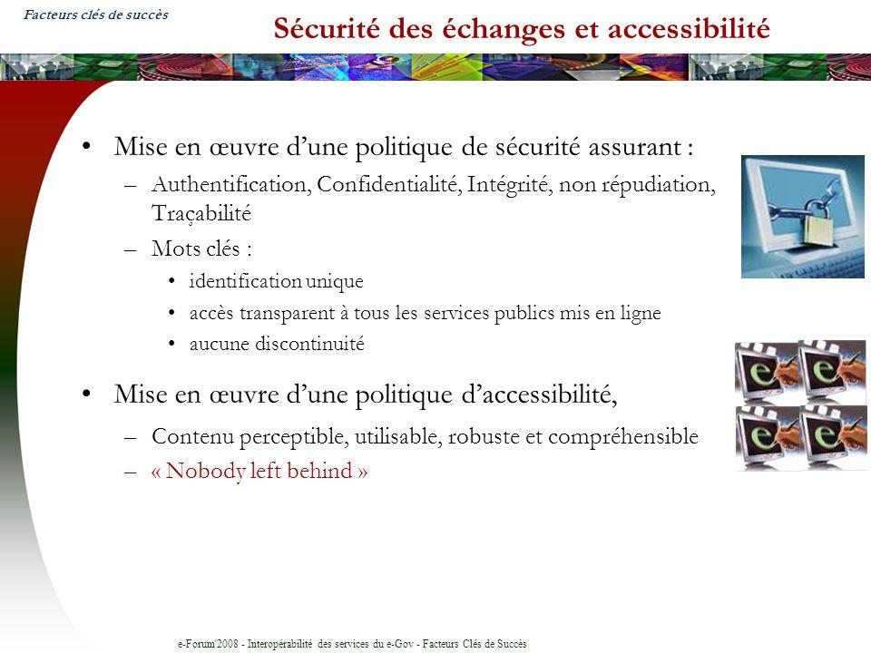 Sécurité des échanges et accessibilité