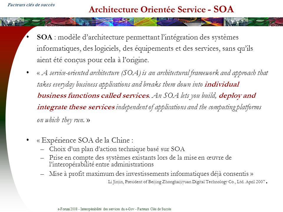Architecture Orientée Service - SOA