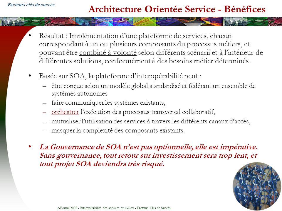 Architecture Orientée Service - Bénéfices