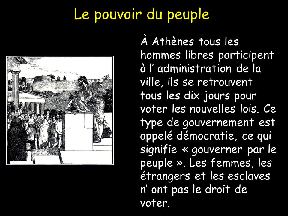 Le pouvoir du peuple