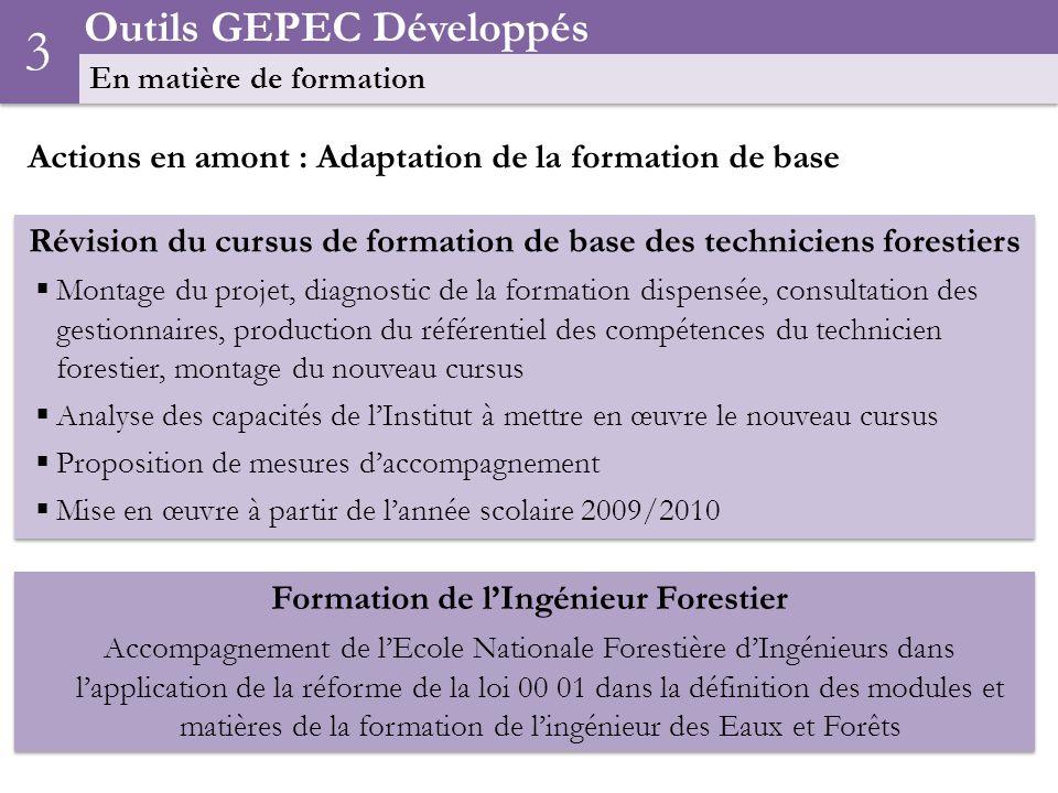 3 Outils GEPEC Développés