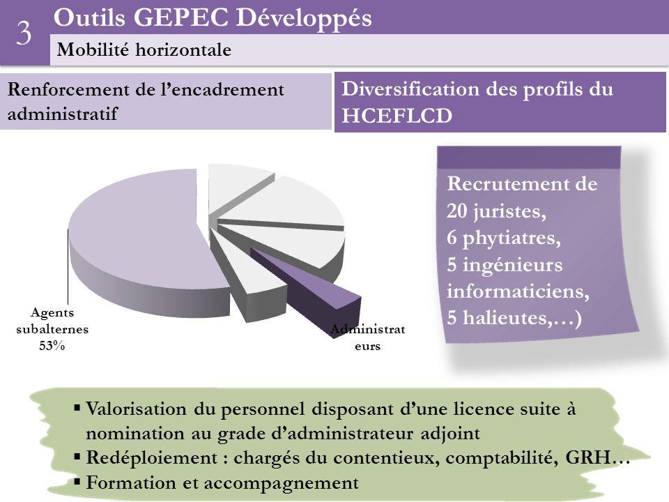 3 Outils GEPEC Développés Diversification des profils du HCEFLCD