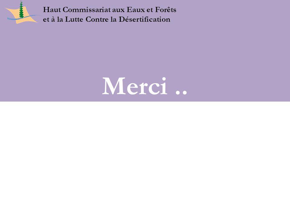 Merci .. 23 Juin 2011 Haut Commissariat aux Eaux et Forêts