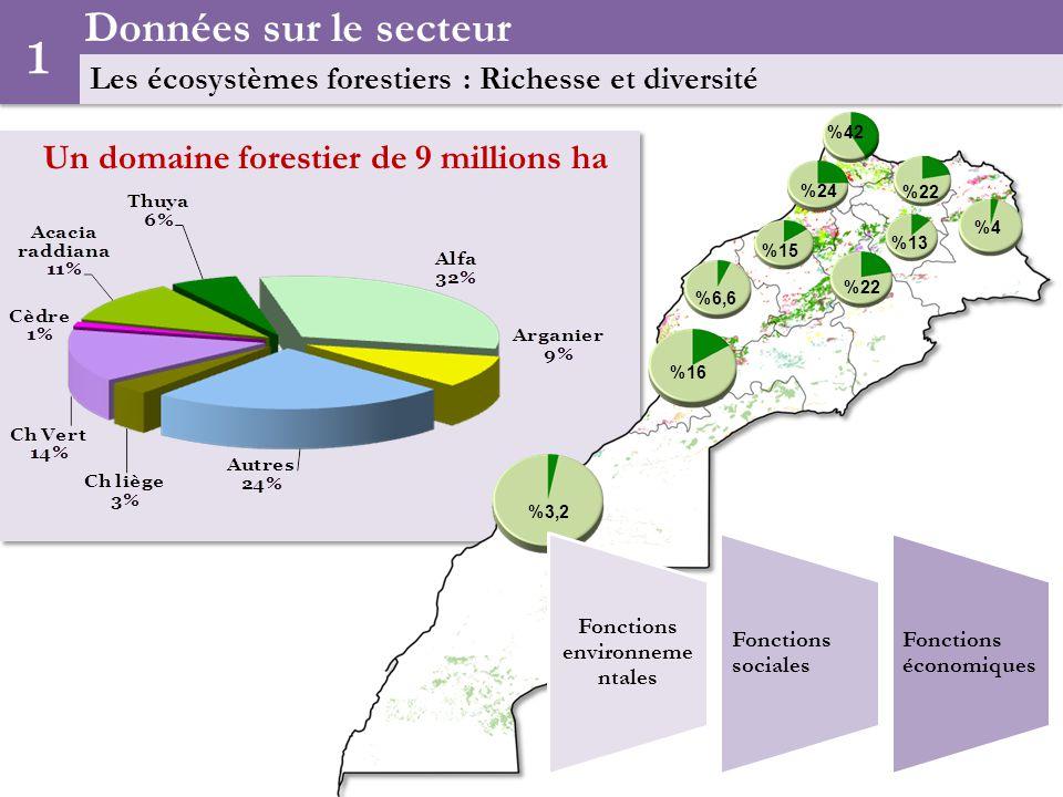Un domaine forestier de 9 millions ha