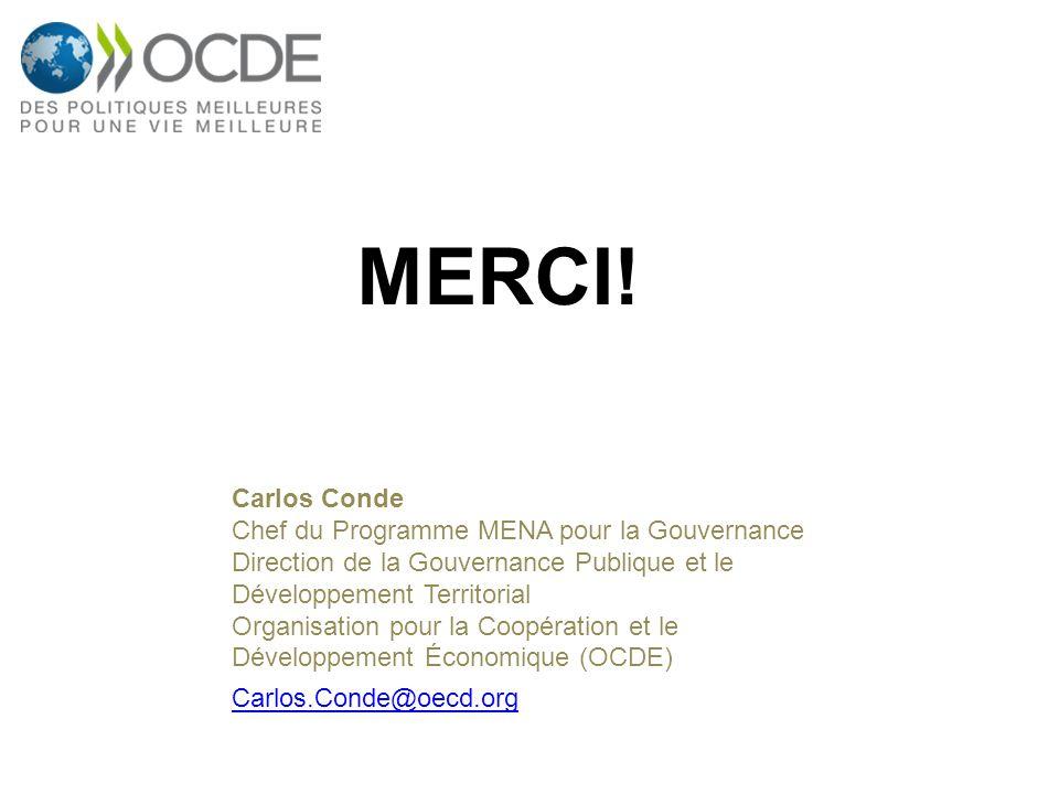 MERCI! Carlos Conde Chef du Programme MENA pour la Gouvernance