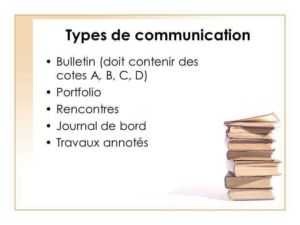 Types de communication