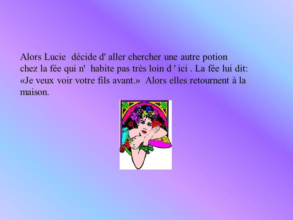 Alors Lucie décide d aller chercher une autre potion