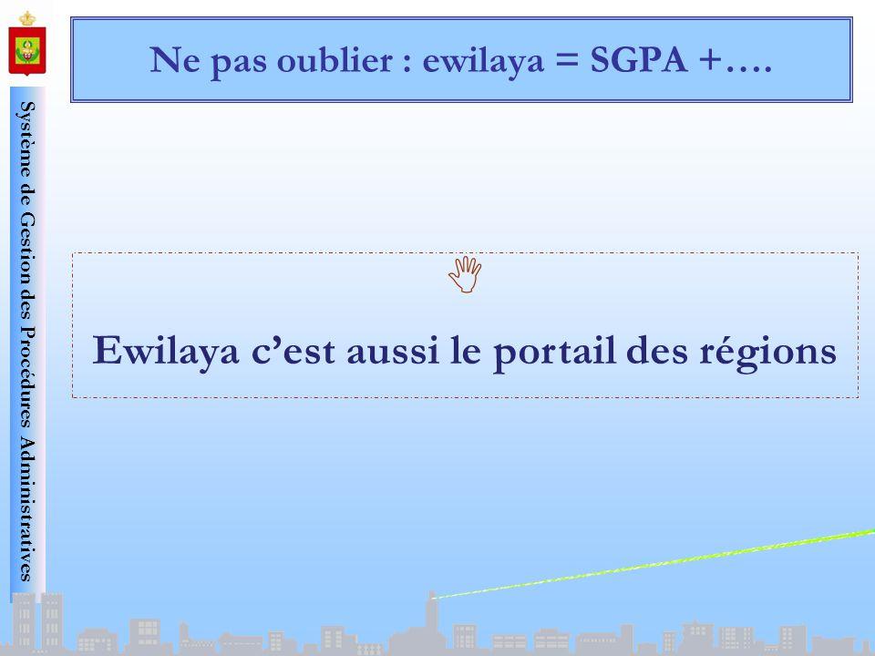 Ne pas oublier : ewilaya = SGPA +….