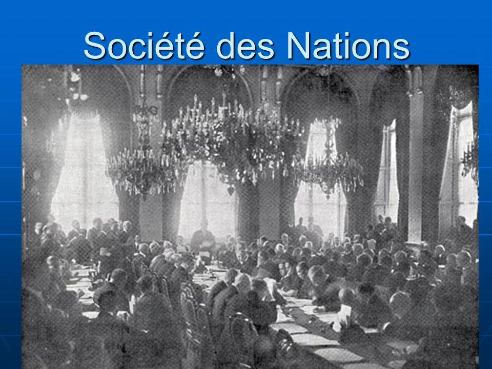 Société des Nations Création de la SDN à Genève (Suisse)