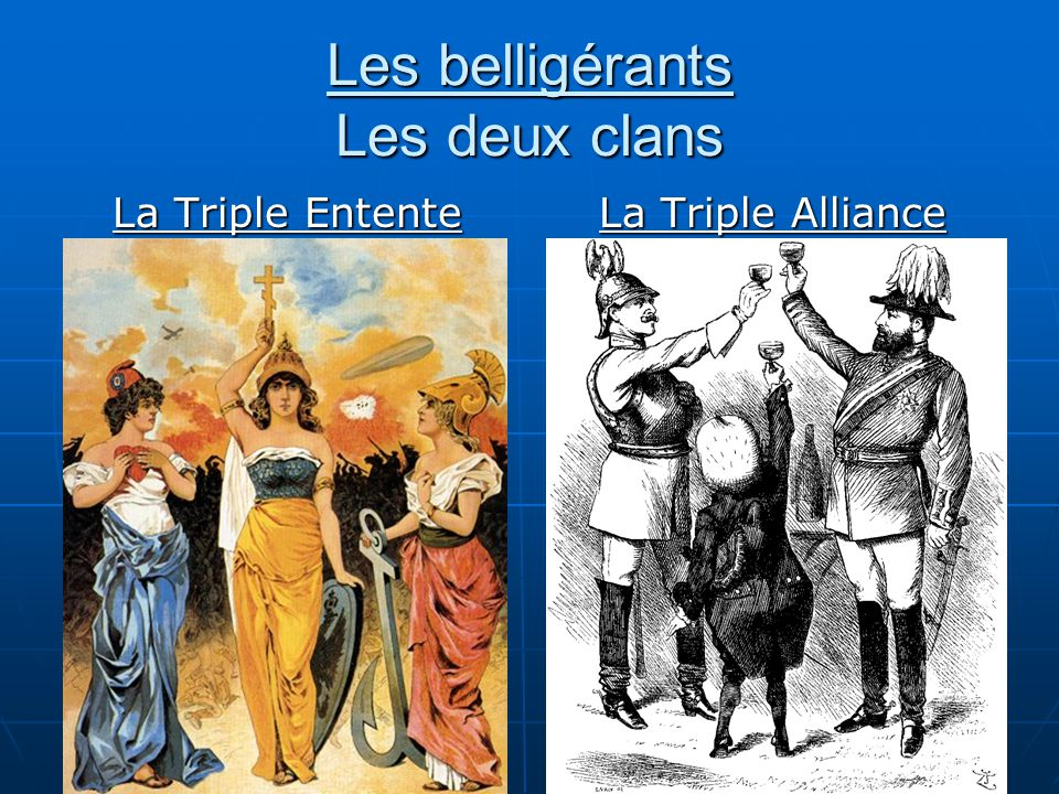 Les belligérants Les deux clans