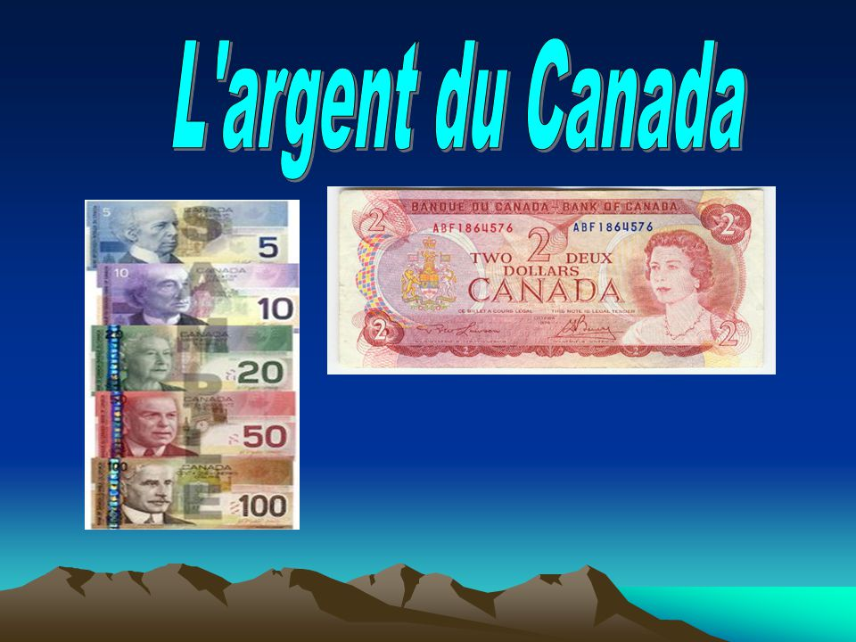 L argent du Canada