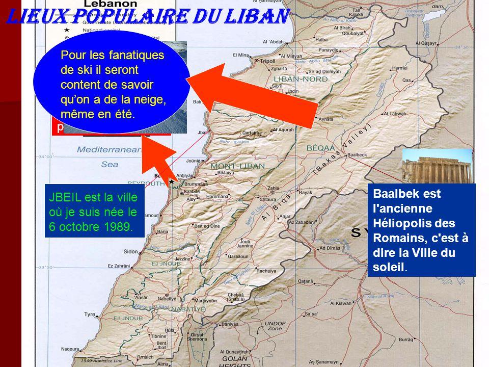LIEUX POPULAIRE DU LIBAN