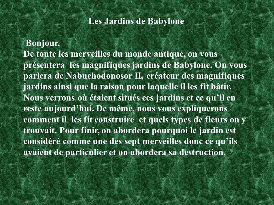 Les Jardins de Babylone