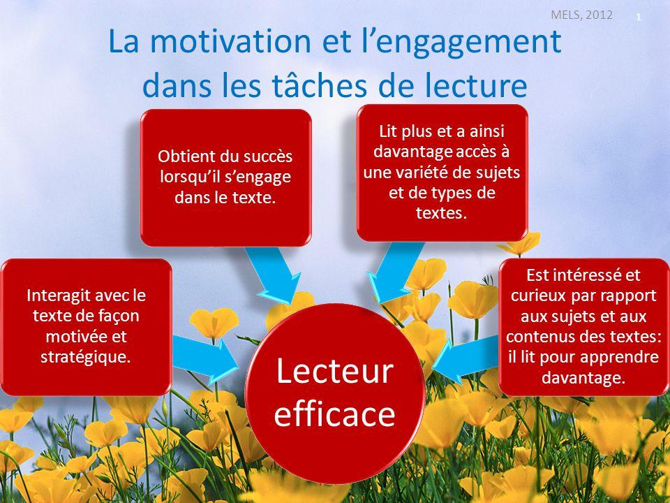 La motivation et l'engagement dans les tâches de lecture