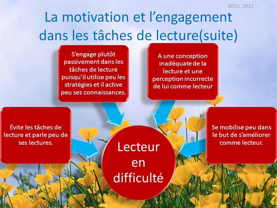 La motivation et l'engagement dans les tâches de lecture(suite)