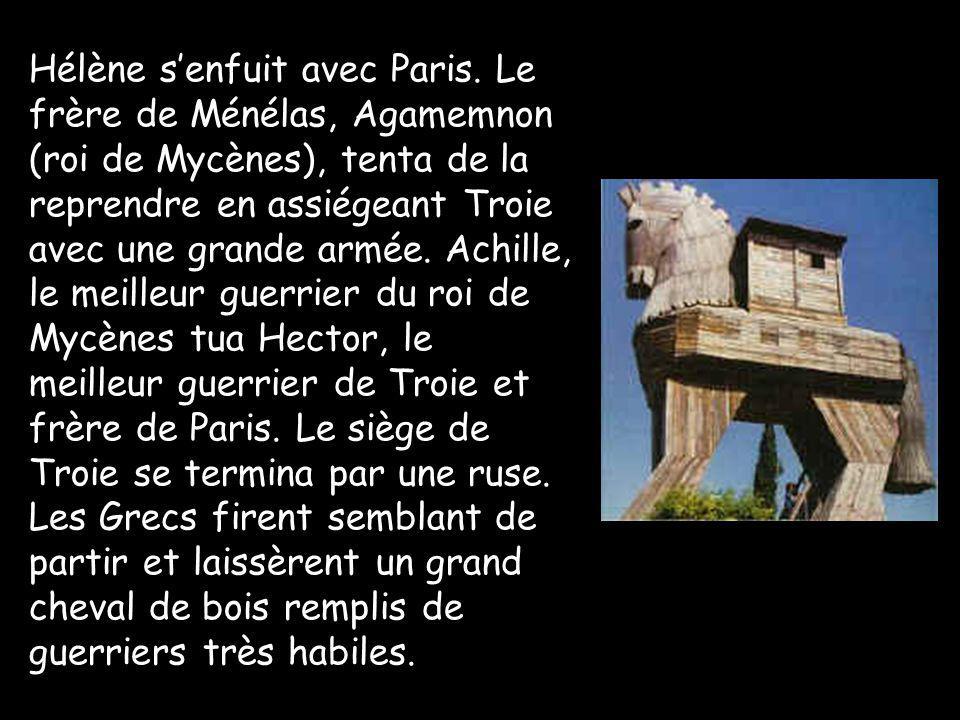 Hélène s'enfuit avec Paris