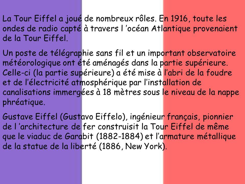 La Tour Eiffel a joué de nombreux rôles